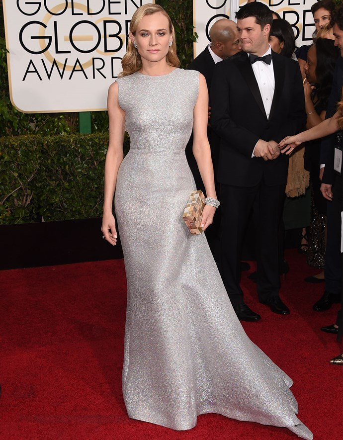 Diane Kruger in Emilia Wickstead at the 2015 Golden Globes. Photo: Getty