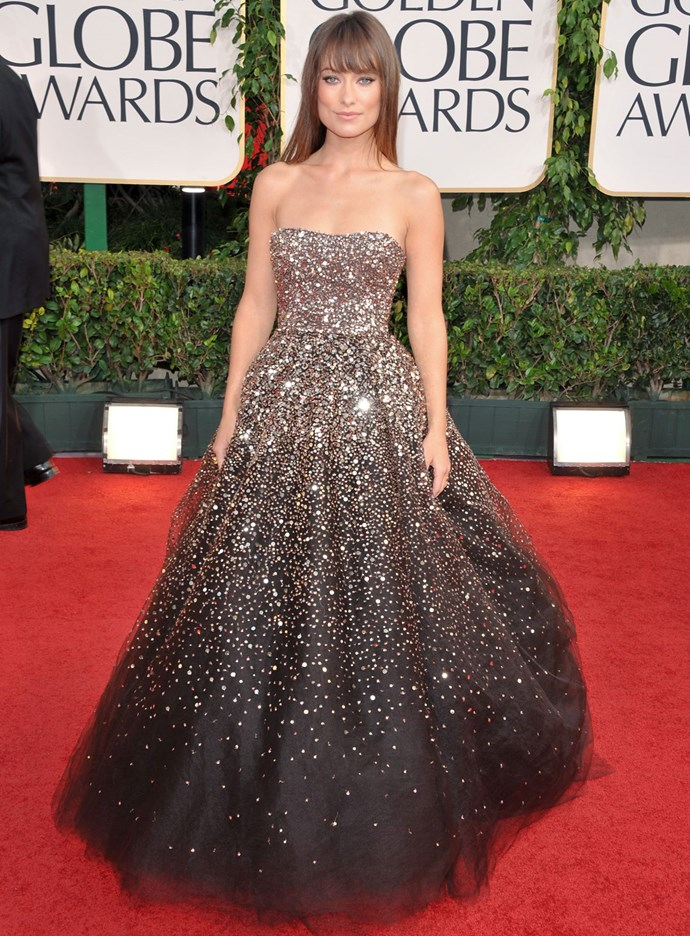 Olivia Wilde in Marchesa at the 2011 Golden Globes. Photo: Getty