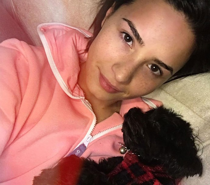 Demi posted this fresh-faced photo in honour of 'no makeup Monday'. Photo: Instagram