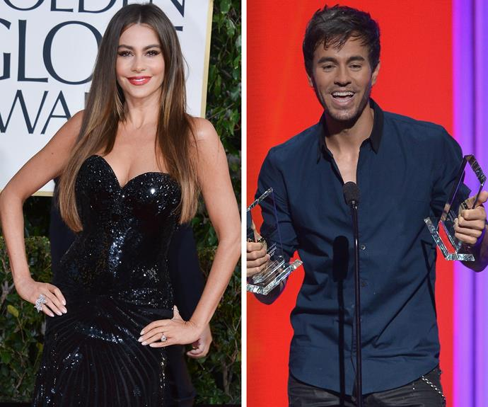 *Modern Family*'s resident bombshell Sofia Vergara enjoyed a brief romance with music superstar Enrique Iglesias, before she found fame on TV as Gloria Delgado-Pritchett.