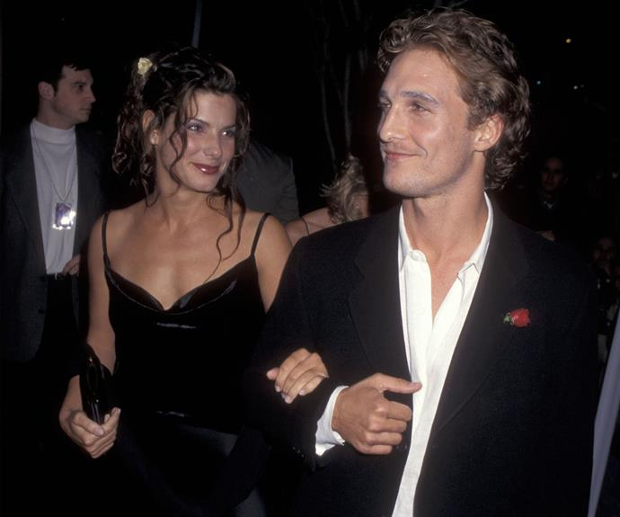 Sandra Bullock and Matthew McConaughey dated in 1996 after meeting on the set of *A Time To Kill* - and though their romantic relationship didn't work out, the two have stayed pals over the years. In 2014, Matthew McConaughey was there to help present Sandra with her 'Decade of Hotness' gong at that year's Guy's Choice Awards.