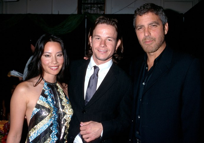 Lucy Liu and George Clooney (pictured here with Mark Wahlberg) set off dating rumours in 2000, although the pair never officially confirmed the talk. Photo: Getty