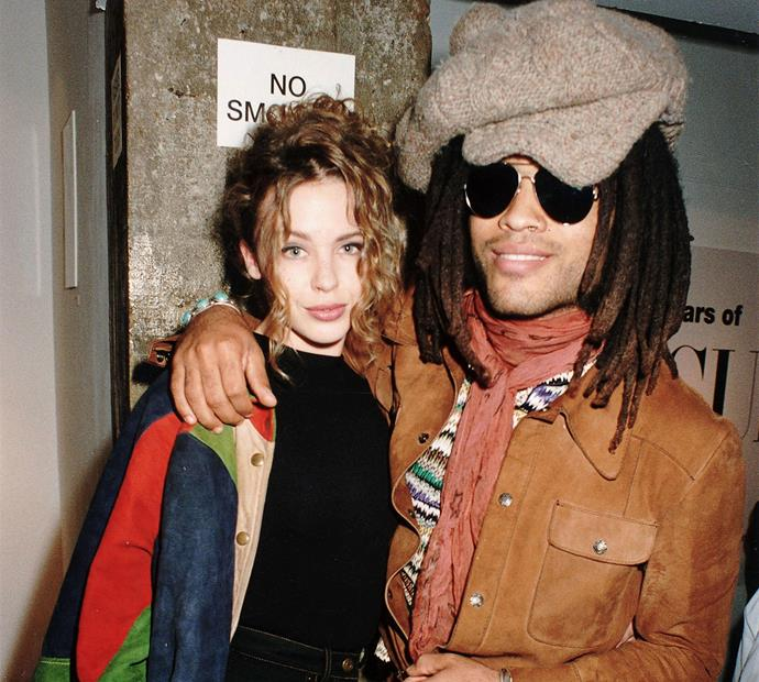 "Kylie Minogue and Lenny Kravitz dated for a brief period in the early '90s, shortly after Kylie was left heartbroken by INXS rocker Michael Hutchence. During that time, Lenny memorably told *The Mirror*: ""She [Kylie] has the best arse in Britain ... and I can attest to that""."