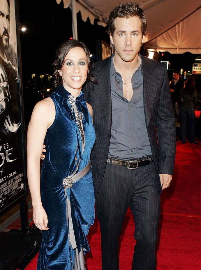 Before he married Blake Lively, actor Ryan Reynolds was engaged to fellow Canadian Alanis Morisette. Photo: Getty