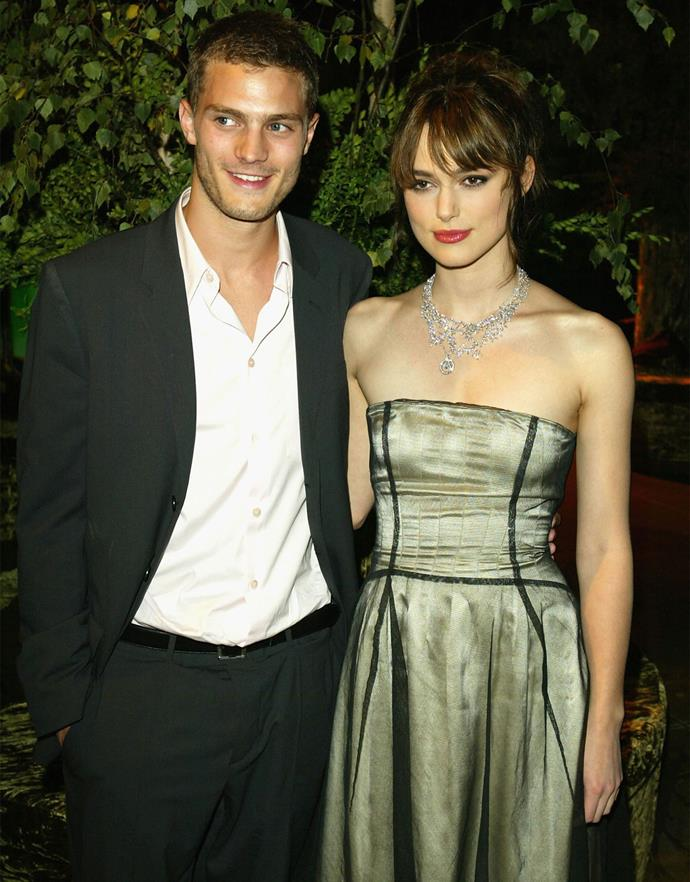"""*Fifty Shades of Grey* star Jamie Dornan  and Keira Knightley dated for two years from 2003-2005. At the time, Jamie was still a relatively unknown model, and the actor says the relationship taught him about the pitfalls of fame. """"Being with Keira was an insight into how rotten the whole thing can be,"""" he told the *Daily Telegraph* of all the paparazzi attention. """"A young girl is being followed around the street, there is nothing positive to say about that."""""""