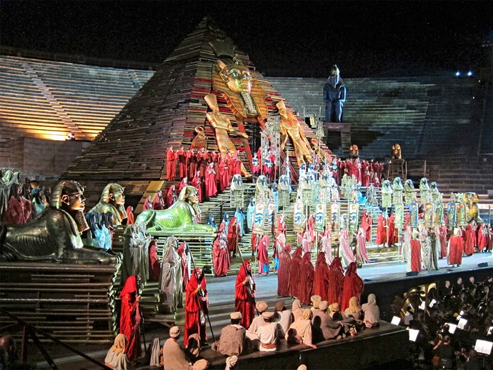 Even an opera numpty like me was wowed by *Aida* at the famous Verona Arena.