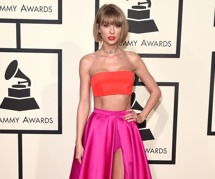 """Meanwhile, Taylor Swift - whose [on again, off again feud with Kanye West](http://www.womansday.co.nz/celebrity/hollywood-stars/kanye-west-reignites-his-feud-with-taylor-swift-4004