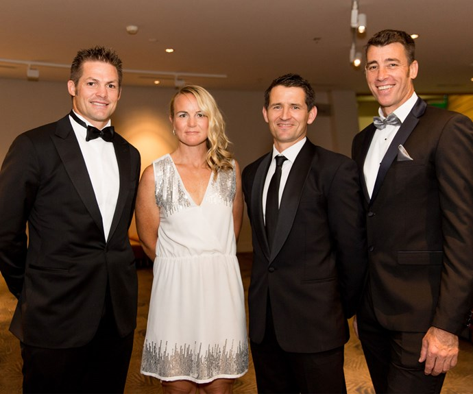 2016 Cure Kids GODZone teammates Richie McCaw, Sarah Fairmaid, Ben Meyer, Rob Nichol. Photo: Carmen Bird