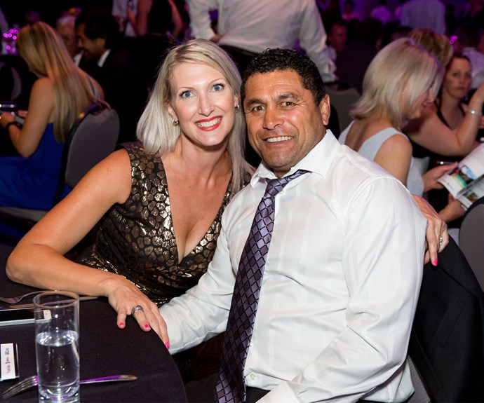 Anna Soons and former All Black Frano Botica. Photo: Carmen Bird