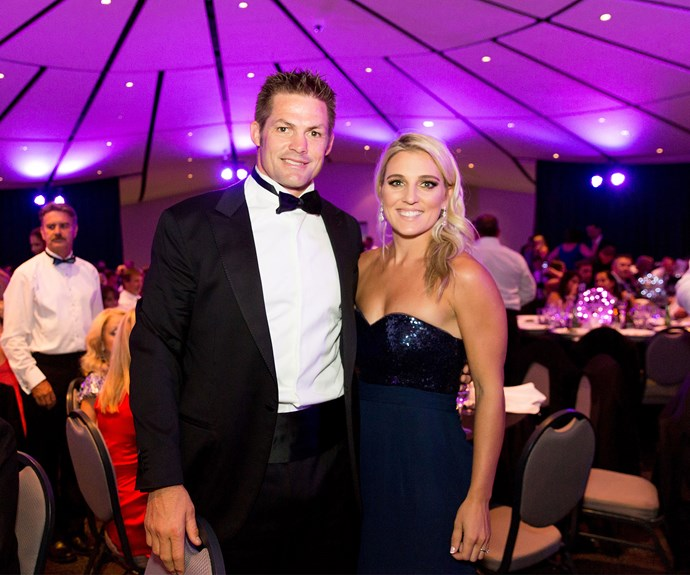Richie McCaw with fiancee and hockey star Gemma Flynn. Photo: Carmen Bird