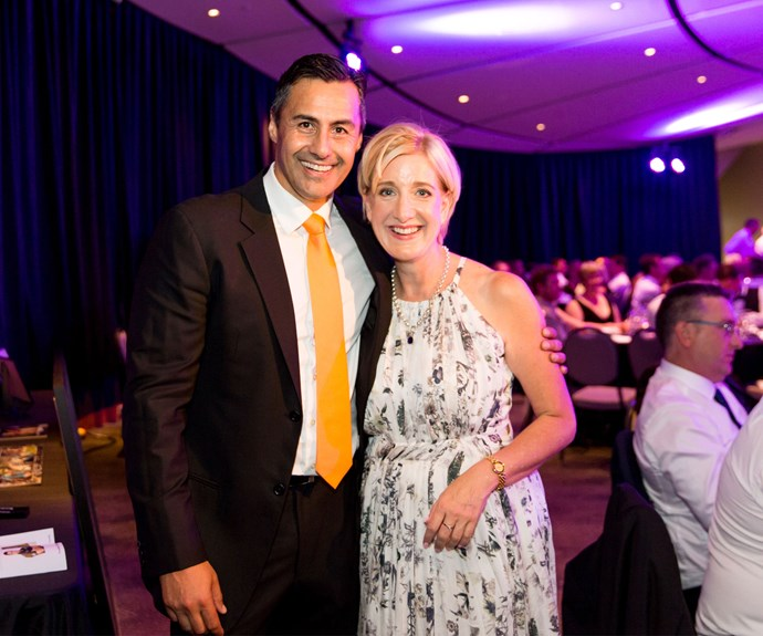 Brendon Pongia with Cure Kids CEO Frances Benge. Photo: Carmen Bird