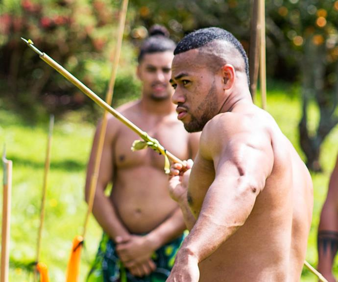 Cult TV hit *Game of Thrones* is known for its cast of murderous macho men, but we reckon the tough, buff hunks from Maori TV's *Game of Bros* would have them shaking in their boots!