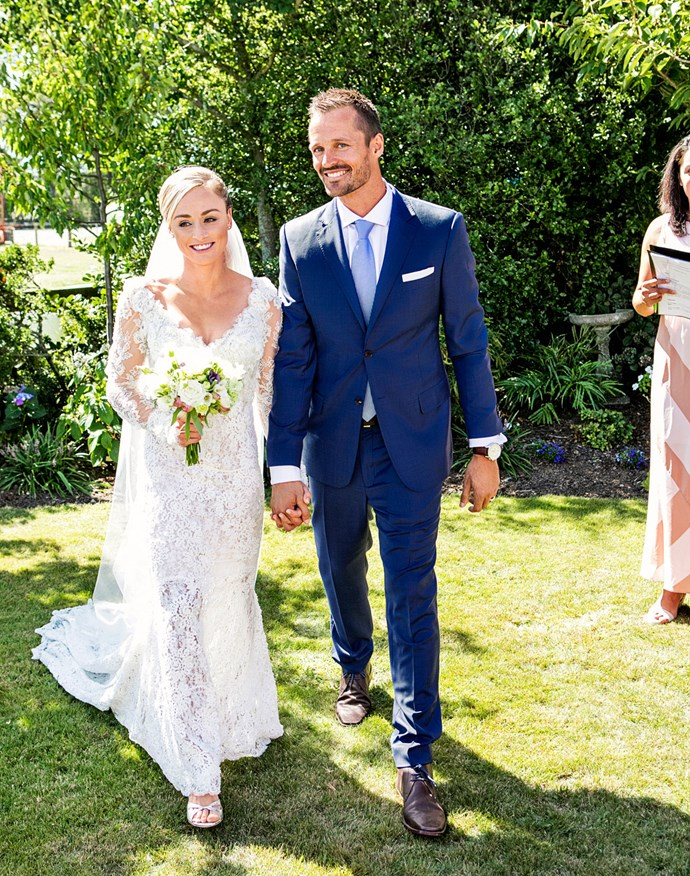 The gorgeous bride actually rolled her ankle during a run on the morning of the wedding, but in true Anita fashion, she didn't let a little injury stop her from making the most of the big day.