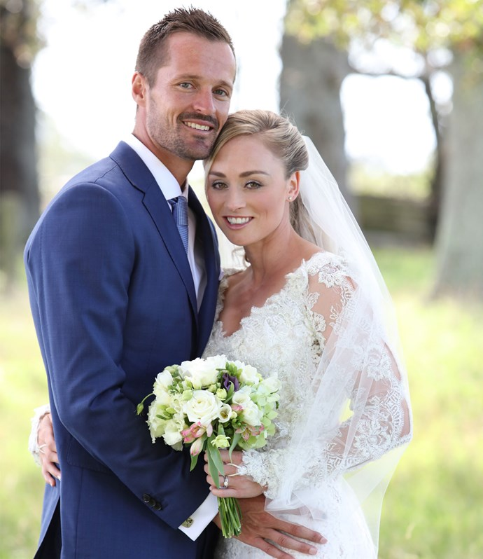 As for Scott, the decathlete says he was struggling to keep his emotions in check as his bride reached the grassy altar.