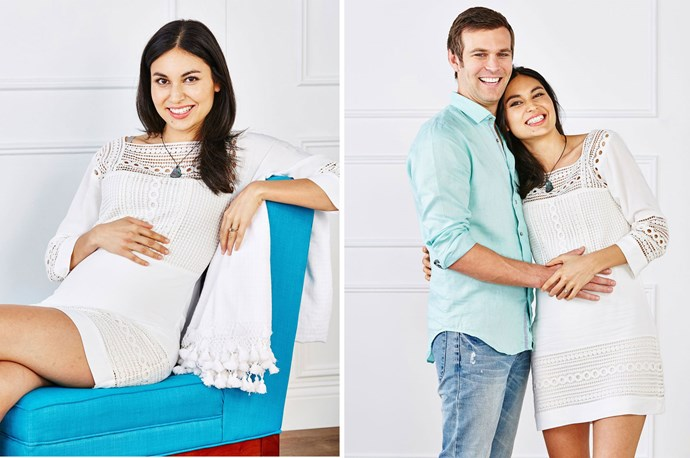 Nadia and Carlos announced they were expecting their first child in *Woman's Day* last year.