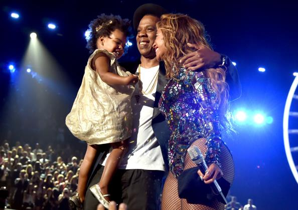 Blue Ivy Carter dazzled in gold during mum Beyonce's big moment at the MTV VMAs in 2014.