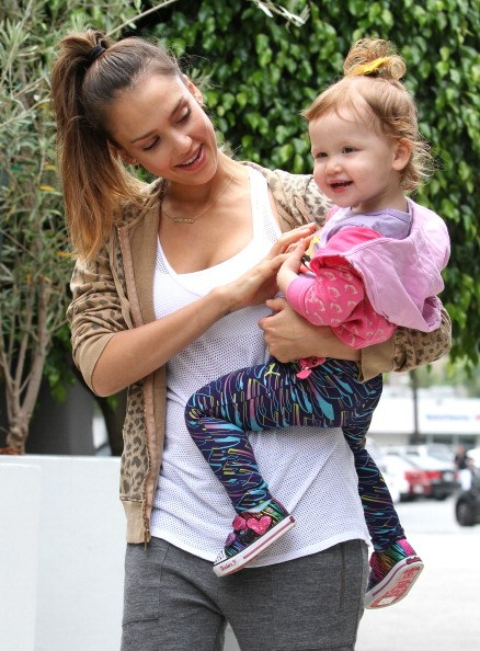 With Jessica as her mum, there was no doubt the tiny tot was going to have a chic wardrobe!