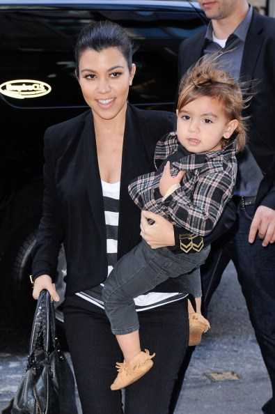 How cute is Mason Disick's flannel shirt?