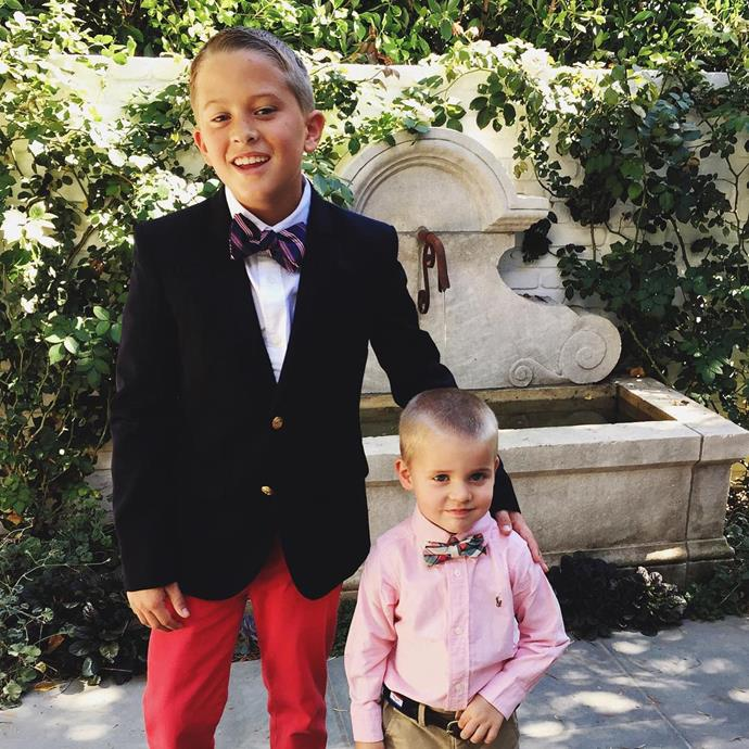 How cute are Reese Witherspoon's sons Deacon and Tennessee all suited up?