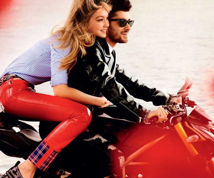 Zayn and Gigi starred together in this dreamy photo shoot for the May issue of *Vogue*. Photo: Mario Testino/Vogue