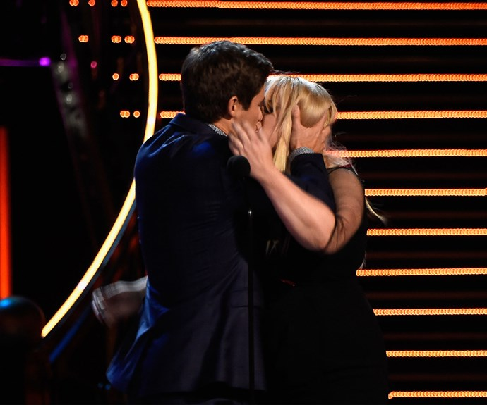 Rebel Wilson and Adam DeVine recreated their iconic makeout scene from *Pitch Perfect 2* when they were crowned the Best Kiss winners.
