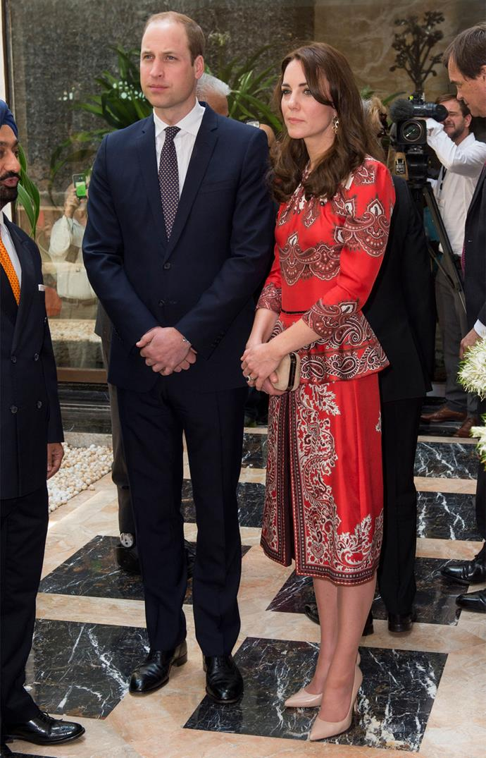 The hotel was the scene of terrorist attacks in 2008. During their visit, Prince William and Duchess Catherine met with the brave members of staff who had protected guests during the attack.