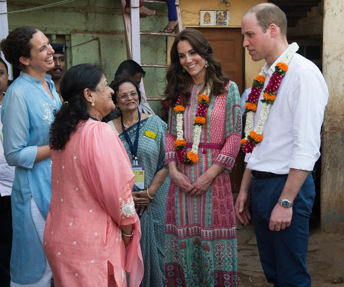 There, the Duke and Duchess of Cambridge met representatives of a charity called SMILE, which helps young people and their parents learn skills and gain opportunities.