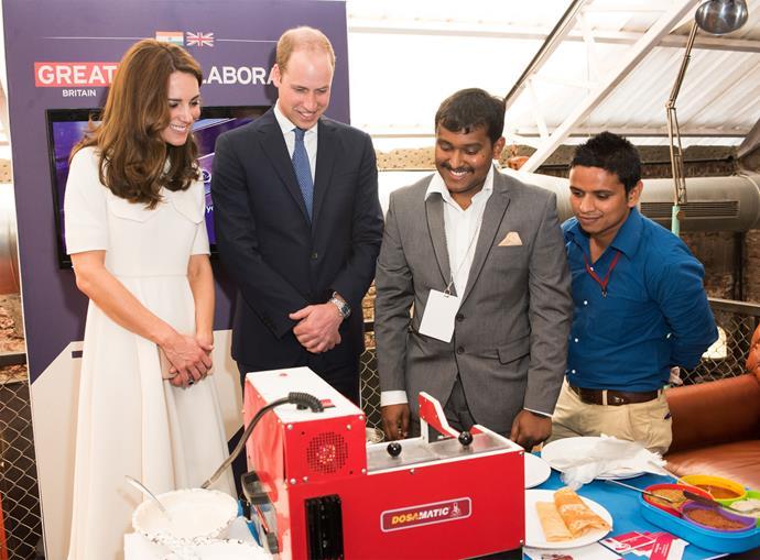 On April 11, Kate and William met young entrepreneurs in Mumbai.