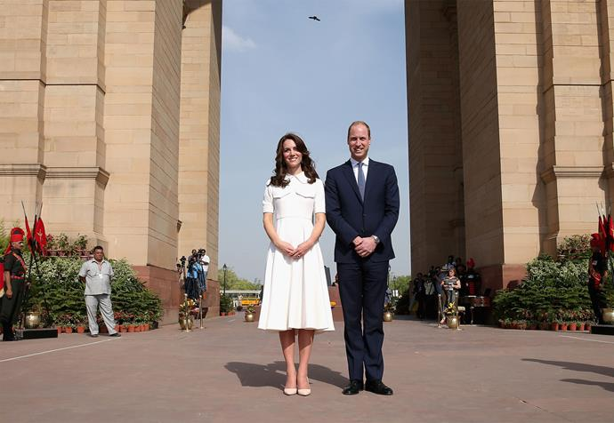 Later that day, the royal duo travelled to the capital city of New Delhi where they laid a wreath at the India Gate memorial.