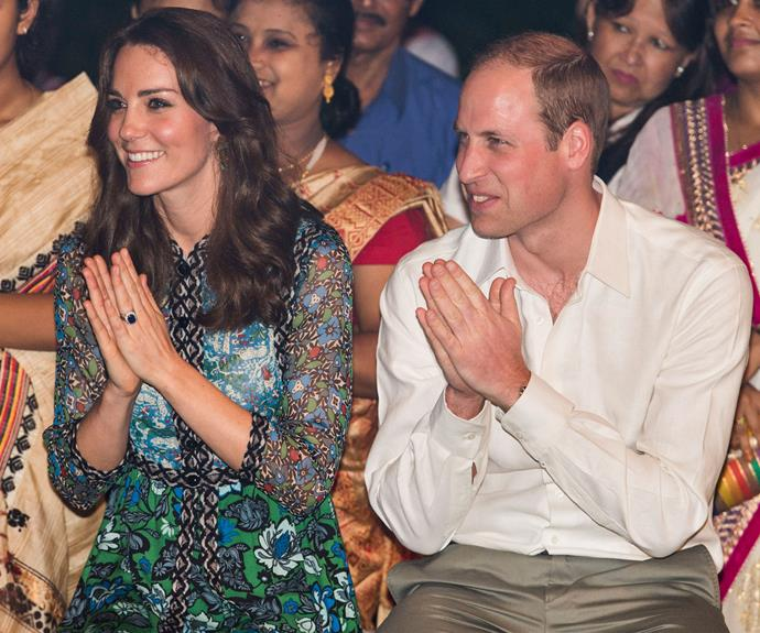 Prince William and Catherine were all smiles as they watched the festival.