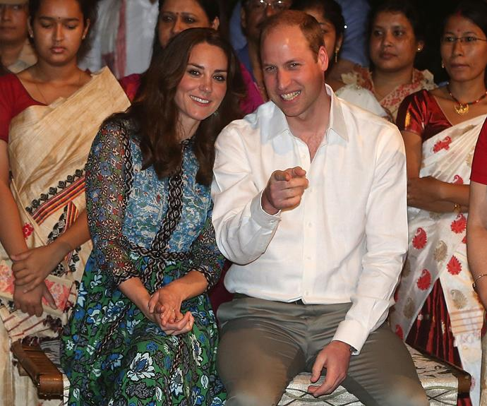 Prince William, Duke of Cambridge and Catherine, Duchess of Cambridge attended a Bihu festival at Diphlu River Lodge in the Kaziranga National Park in Assam.