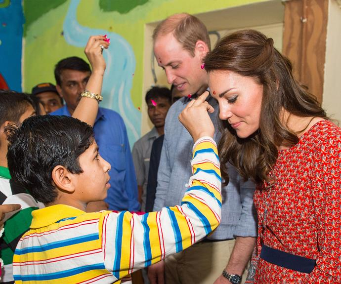 William and Kate visited a facility helping homeless children, run by Salaam Baalak Trust while in new New Delhi.