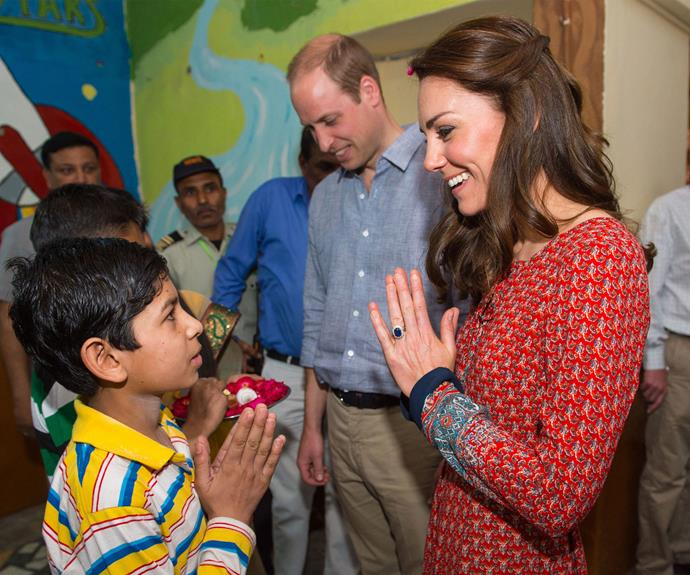 Kate Middleton was all smiles as she talked with children at the charity.