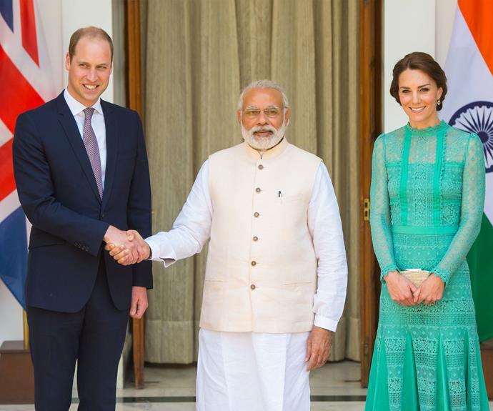 The Duke and Duchess of Cambridge met Prime Minister of India Narenda Modi in New Delhi.