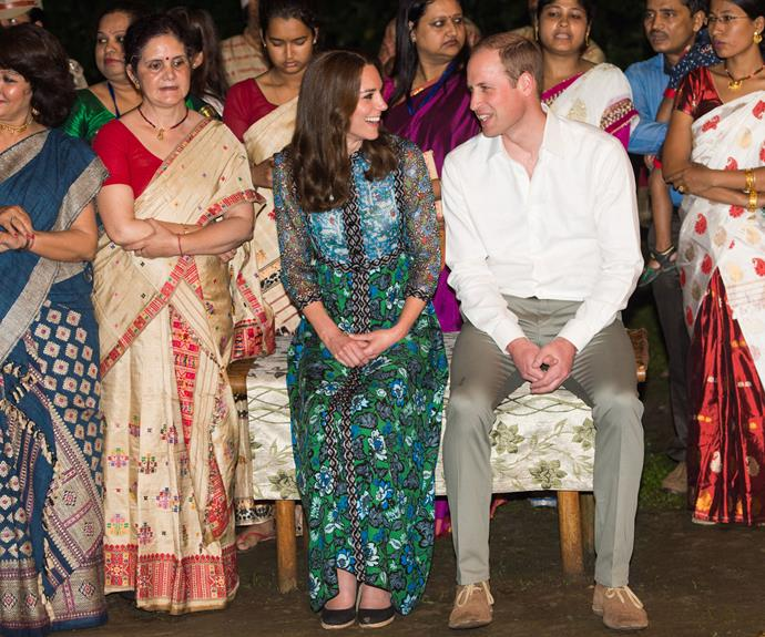 The Duke and Duchess of Cambridge enjoyed an evening of dance and art at the fireside festival.