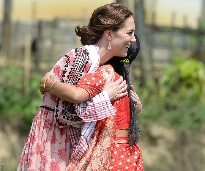Kate Middleton embraced a young fan.
