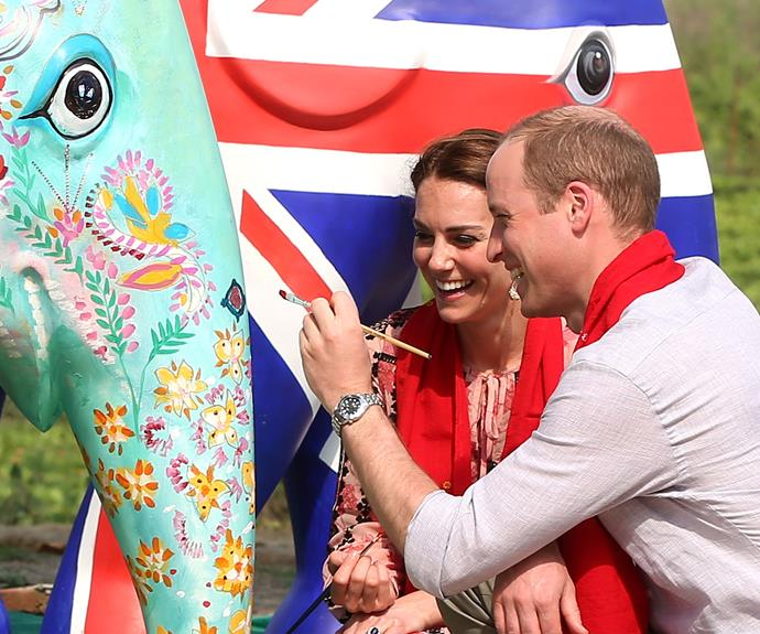 The royal couple took some time to show their creative side.