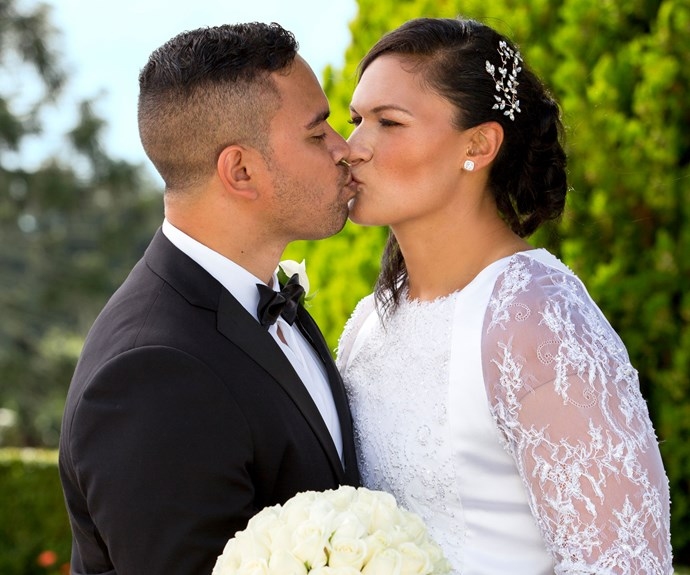 The couple said their 'I dos' in front of 30 close friends and family members.