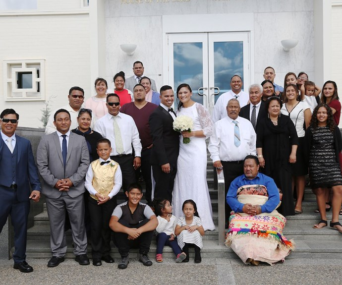 """""""The biggest difference between a Mormon wedding and a normal one is that instead of 'til death do you part, it's forever and always. It's for eternity,"""" Gabriel says."""
