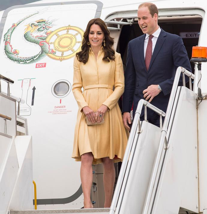 On Thursday, April 14, the royal couple flew to Bhutan for the second leg of their week-long royal tour.