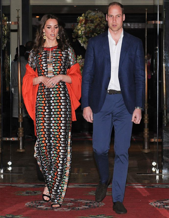In the evening, the couple attended a private dinner with Bhutan's King and Queen.