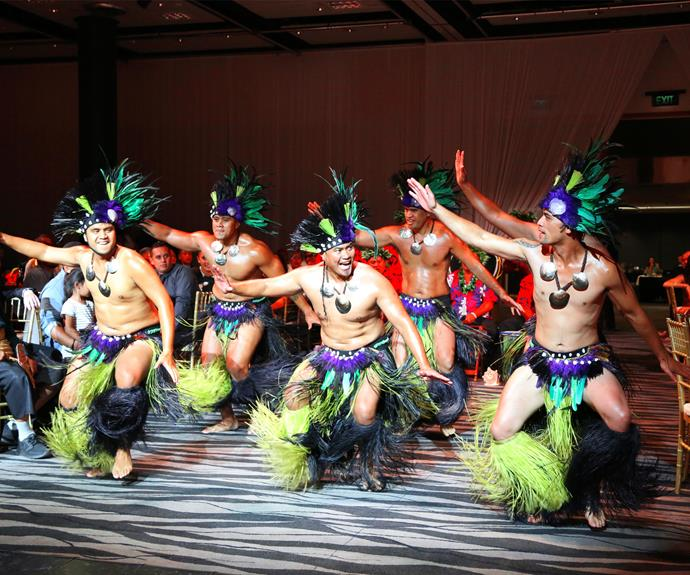 A Cook Islands dance troupe made a surprise performance on the night.