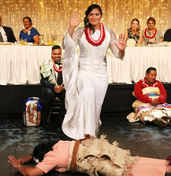 """Before her Tongan dance, Valerie admitted, """"I haven't had any practice - I'll just stand there and see what happens."""""""