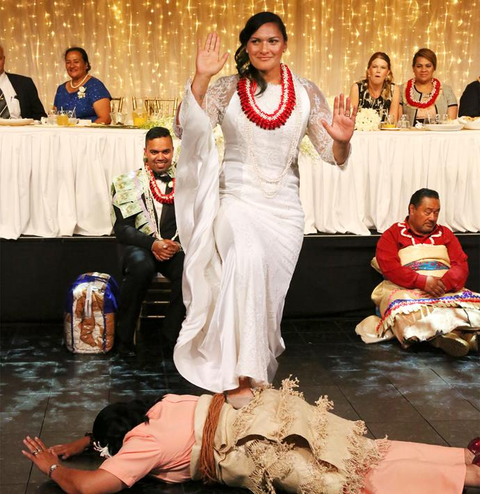 "Before her Tongan dance, Valerie admitted, ""I haven't had any practice - I'll just stand there and see what happens."""