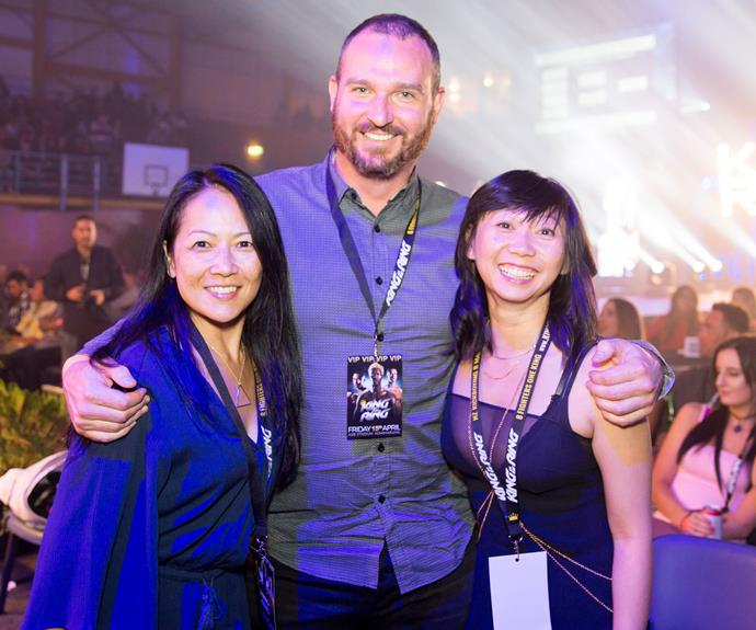 Lily Leung, David Fletcher and Fiona Fong. Photo: Carmen Bird