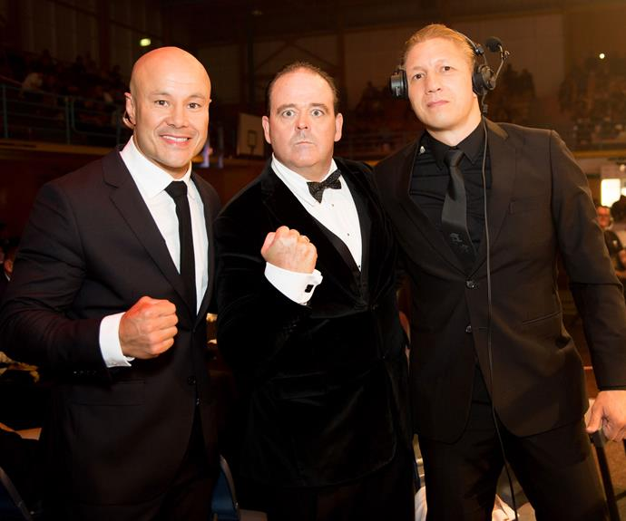 Monty Betham, Daniel Hennessey and Lightning Mike Angove. Photo: Carmen Bird