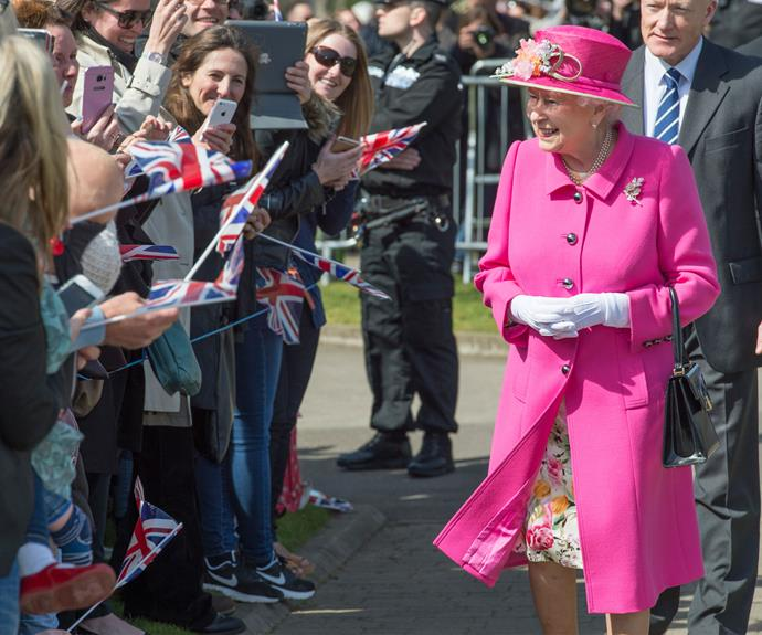 The Queen officially opens the Alexandra bandstand in Windsor on April 20.