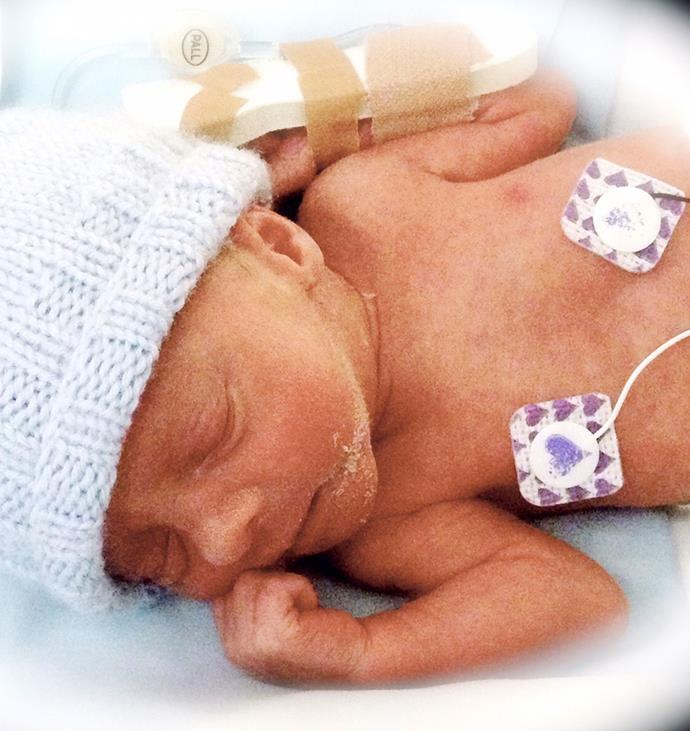 "David was born premature and showed a fighting spirit from day one. ""He came out with a roar,"" tells Lucy."