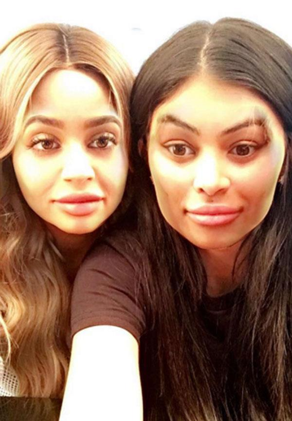 Kylie and Chyna even did a face swap using the popular Snap Chat filter.