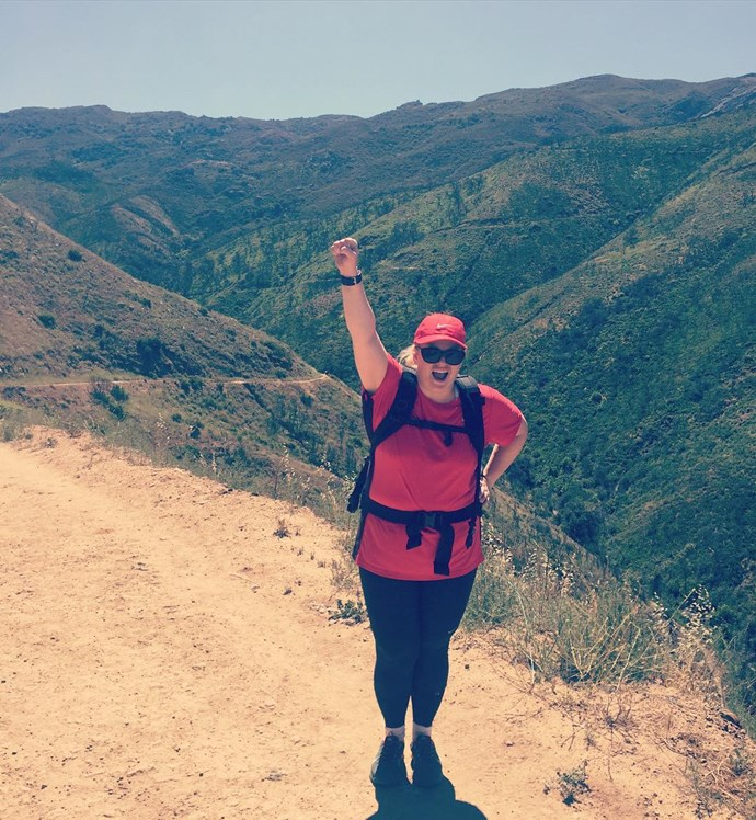 The star credits her weight loss to rigorous mountain hiking sessions. Photo: Rebel Wilson/Instagram